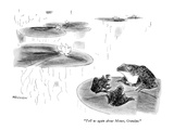 """Tell us again about Monet, Grandpa."" - New Yorker Cartoon Premium Giclee Print by James Stevenson"