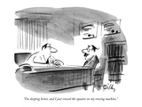 """I'm sleeping better, and I just crossed the equator on my rowing machine."" - New Yorker Cartoon Premium Giclee Print by Donald Reilly"
