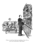 """""""I love to watch you look up something, Lester. It's as if we were both ba…"""" - New Yorker Cartoon Premium Giclee Print by Charles Saxon"""