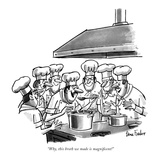 """Why, this broth we made is magnificent!"" - New Yorker Cartoon Premium Giclee Print by Dana Fradon"