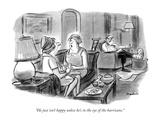 """""""He just isn't happy unless he's in the eye of the hurricane."""" - New Yorker Cartoon Premium Giclee Print by Frank Modell"""