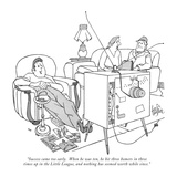 """Success came too early.  When he was ten, he hit three homers in three ti…"" - New Yorker Cartoon Premium Giclee Print by George Price"