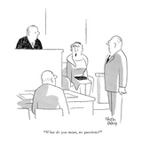 """What do you mean, no questions?"" - New Yorker Cartoon Premium Giclee Print by Chon Day"