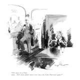 """He must be a Yale man. He's been sittin' there ever since the Yale-Harvar…"" - New Yorker Cartoon Premium Giclee Print by Kemp Starrett"