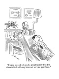 """I have a good job and a great family but I'm dissatisfied with my interne…"" - Cartoon Premium Giclee Print by Aaron Bacall"