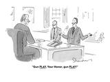 """""""Gun PLAY, Your Honor, gun PLAY!"""" - Cartoon Premium Giclee Print by Danny Shanahan"""