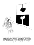 """ 'Perceptual and kinetic art have an intertwined development that cannot …"" - New Yorker Cartoon Premium Giclee Print by James Stevenson"