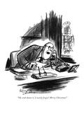 """Oh, and damn it, I nearly forgot! Merry Christmas!"" - New Yorker Cartoon Premium Giclee Print by Jr., Whitney Darrow"