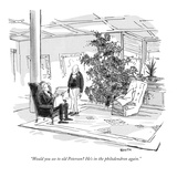 """Would you see to old Peterson? He's in the philodendron again."" - New Yorker Cartoon Premium Giclee Print by George Booth"