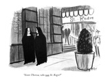 """Sister Theresa, who was St. Regis?"" - New Yorker Cartoon Premium Giclee Print by Warren Miller"