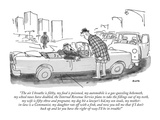 """""""The air I breathe is filthy, my food is poisoned, my automobile is a gas-…"""" - New Yorker Cartoon Premium Giclee Print by George Booth"""