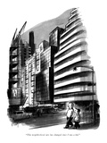 """""""This neighborhood sure has changed since I was a kid."""" - New Yorker Cartoon Premium Giclee Print by Barney Tobey"""
