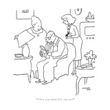 """Then you think he's sincere?"" - New Yorker Cartoon Premium Giclee Print by Gardner Rea"