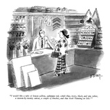 """""""I would like a tube of lemon yellow, cadmium red, cobalt blue, ivory, bla…"""" - New Yorker Cartoon Premium Giclee Print by Barney Tobey"""