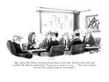 """ 'No!' shouted Mr. Bixbey, slamming his fist down on the table. The floor…"" - New Yorker Cartoon Premium Giclee Print by Dana Fradon"