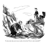 """Is that what they teach you at caddy school, boy? How to stare at people?"" - New Yorker Cartoon Premium Giclee Print by James Stevenson"