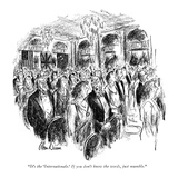 """""""It's the 'Internationale.' If you don't know the words, just mumble."""" - New Yorker Cartoon Premium Giclee Print by Alan Dunn"""