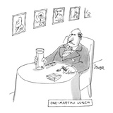 """One-Martini Lunch"" - New Yorker Cartoon Premium Giclee Print by Jack Ziegler"