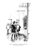 """I never can remember. Is it Manet or Monet who isn't as good as the other…"" - New Yorker Cartoon Premium Giclee Print by Charles Saxon"