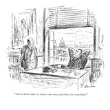 """""""Isn't it about time we issued some new guidelines for something?"""" - New Yorker Cartoon Premium Giclee Print by Alan Dunn"""