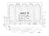Marquee outside the Metropolitan Opera House indicating that four differen… - New Yorker Cartoon Premium Giclee Print by Robert Mankoff