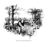 """Thayer! Come quick! Wild raspberries!"" - New Yorker Cartoon Premium Giclee Print by Charles Saxon"