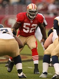Rams 49ers Football: San Francisco, CA - Patrick Willis Fotografisk trykk