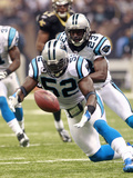 Panthers Saints Football: New Orleans, LA - Jon Beason Photographic Print by Dave Martin