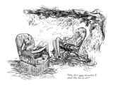 """""""Oh, she's very attractive. I don't like her at all."""" - New Yorker Cartoon Premium Giclee Print by Alice Harvey"""