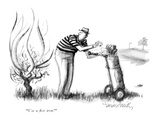 """Use a five iron!"" - New Yorker Cartoon Premium Giclee Print by Donald Reilly"