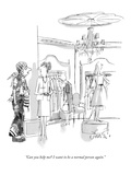 """Can you help me? I want to be a normal person again."" - New Yorker Cartoon Premium Giclee Print by Edward Frascino"