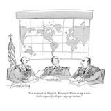 """You majored in English, Brinwell. Write us up a nice little request for h…"" - New Yorker Cartoon Premium Giclee Print by Mort Gerberg"
