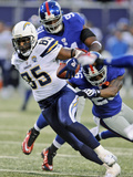 Chargers Giants Football: East Rutherford, NJ - Antonio Gates Photographic Print by Bill Kostroun