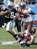 Buccaneers Panthers Football: Charlotte, NC - Jonathan Stewart Photographic Print by Rick Havner
