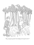 """No, I found my ball.  I'm looking for the golf course."" - New Yorker Cartoon Premium Giclee Print by Chon Day"