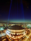 SUPER BOWL: NEW ORLEANS, LOUISIANA - The Louisiana Superdome Fotografisk trykk av Dave Martin