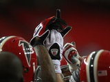 Panthers Falcons Football: Atlanta, GA - Falcons Huddle Photo av Dave Martin