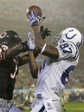 Super Bowl Football: Miami, FLORIDA - Reggie Wayne Photographic Print by Alex Brandon