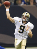 Giants Saints Football: New Orleans, LA - Drew Brees Photographic Print by Bill Haber