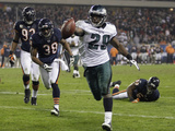 Eagles Bears Football: Chicago, IL - LeSean McCoy Photographic Print by Charles Rex Arbogast
