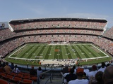 Vikings Browns Football: Cleveland, OH - Cleveland Browns Stadium Photographic Print by Tony Dejak