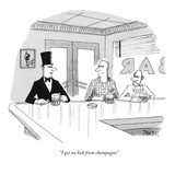 """I get no kick from champagne"" - New Yorker Cartoon Premium Giclee Print by Jack Ziegler"