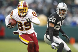 Redskins Raiders Football: Oakland, CA - Santana Moss Plakater av Marcio Jose Sanchez