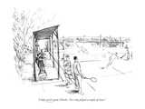"""""""I hope you're good, Charlie.  I've only played a couple of times."""" - New Yorker Cartoon Premium Giclee Print by James Stevenson"""
