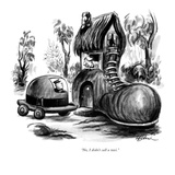 """No, I didn't call a taxi."" - New Yorker Cartoon Premium Giclee Print by Eldon Dedini"