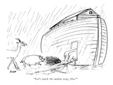 """""""Let's watch the sudden stops, Mac!"""" - New Yorker Cartoon Premium Giclee Print by Frank Modell"""