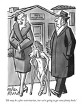 """He may be a fine veterinarian, but we're going to get some funny looks."" - New Yorker Cartoon Premium Giclee Print by Peter Arno"