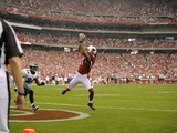 NFC Championship Football: Glendale, ARIZONA - Larry Fitzgerald Photographic Print by Mark J. Terrill