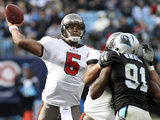Buccaneers Panthers Football: Charlotte, NC - Josh Freeman Photographic Print by Rick Havner