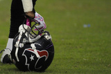 Raiders Texans Football: Houston, TX - Houston Texans Helmet Photographic Print by Pat Sullivan